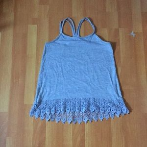 Grey Tank with Lace